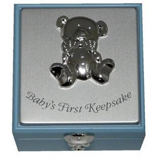 Baby Boy First Keepsake Box Gift Boxed With Teddy Bear Thumbnail 1