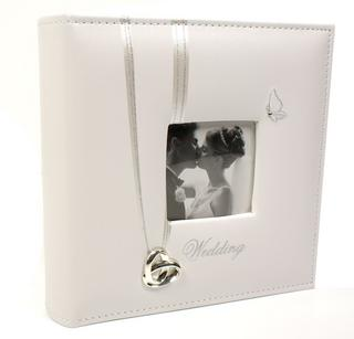 "Wedding Rings Picture Photo Album 6"" X 4"" Wedding Day Gift Faux Leather Thumbnail 1"