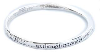 Equililbrium Silver Plated Bangle - Dance As Though No One Is Watching Gift Box Thumbnail 2