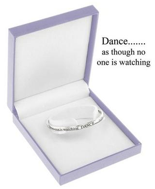 Equililbrium Silver Plated Bangle - Dance As Though No One Is Watching Gift Box Thumbnail 1