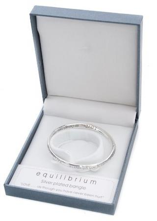 Equilibilirum Silver Plated Bangle Gift Box Love As Though You'Ve Never Hurt Thumbnail 1