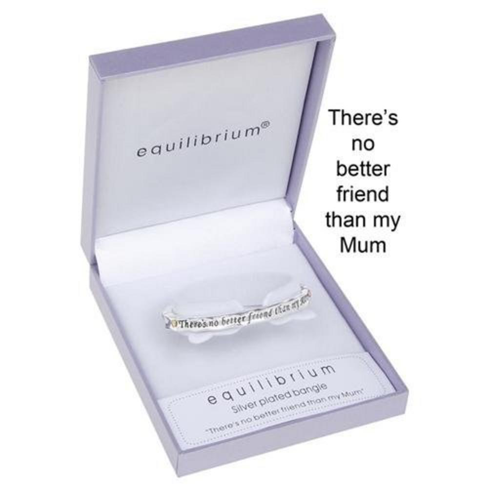 Equilibrium Two Tone Hinged Bangle & Gift Box - There'S Not Better Friend Mother