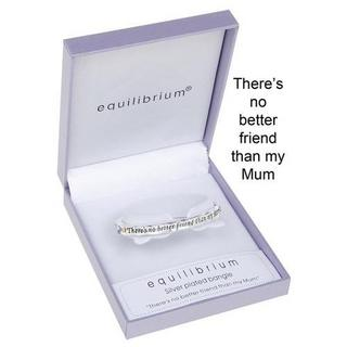 Equilibrium Two Tone Hinged Bangle & Gift Box - There'S Not Better Friend Mother Thumbnail 1