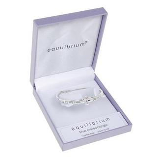 Equilibrium Silver Plated Guardian Angel Stay By My Side Bangle Gift Box Thumbnail 1