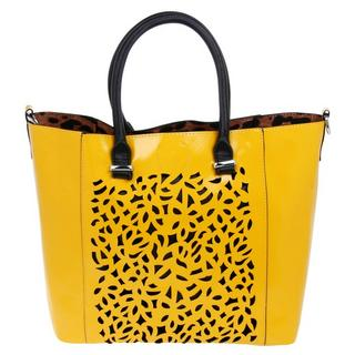 Equilibrium Luxury Square Cut Out Mustard Hand Bag Thumbnail 1