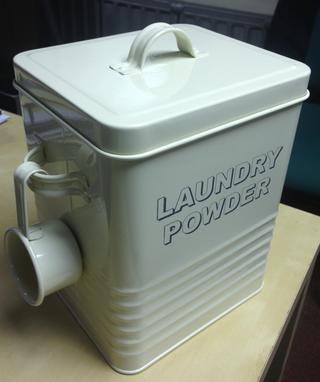 Vintage Retro Shabby Chic Classic Cream Trendy Washing Laundry Power Storage Box Thumbnail 1