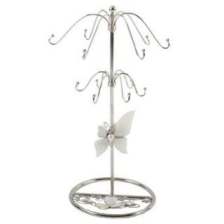 Juliana Glass & Wire Black Glass Butterfly - Mop Jewellery Holder Thumbnail 1
