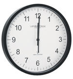 London Clock Company Radio Controlled Black Msf Atomic Modern Simple Wall Clock