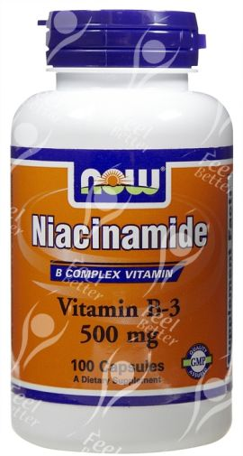 Niacinamide Vitamin B3  500mg x100caps - SOCIAL ANXIETY