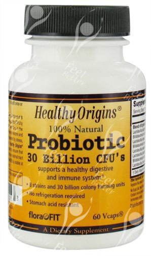 Healthy Origins Probiotic 30 Billion x60Vcaps AMAZING!!