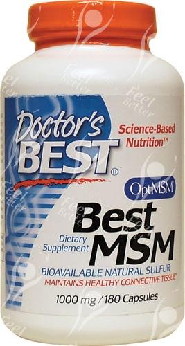Best Msm 1000 Mg: Doctors Best, MSM With OptiMSM 1000mg X180caps;- NATURAL