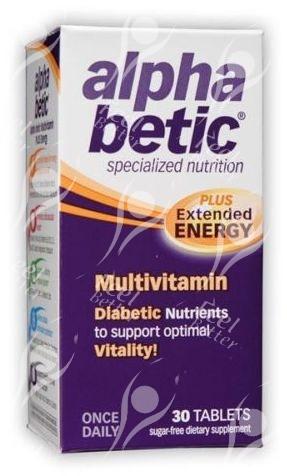 AlphaBetic Diabetes Multivitamin with Chromium Picolinate & Vanadium - x30tabs