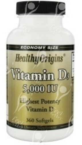Healthy Origins Vitamin D D3 5000iu x360 *CRAZY VALUE!*