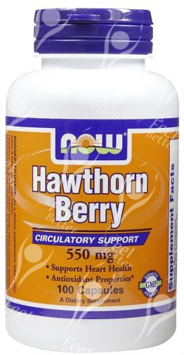 Hawthorn Berry 550mg x100caps - BLOOD PRESSURE / ANGINA