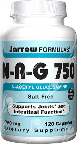 Jarrow Formulas - N-A-G 750, Salt Free - 750mg x120caps - N Acetyl-Glucosamine