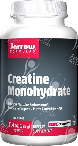 Pure Creapure Creatine Monohydrate by Jarrow 325g - MUSCLE GAIN, POWER, ENERGY
