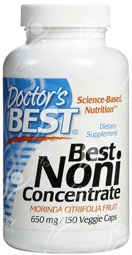 Noni Concentrate 650 Mg: Drs Best Organic Noni Concentrate Capsules 650mgx150