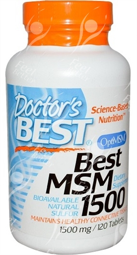 Best Msm 1000 Mg: Doctor's Best, Besten MSM - 1500mg X 120 Tabletten