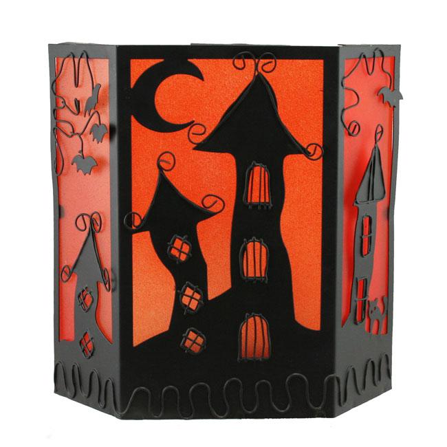 Halloween decoration spooky candle screen ebay - Deco hal halloween ...