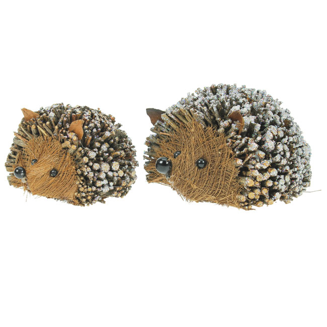 Set of Two Twig Hedgehog Christmas Decorations | eBay