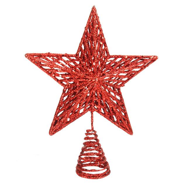Gisela-Graham-Large-Red-Star-Christmas-Tree-Topper