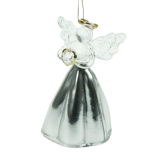 Glass-Angel-Christmas-Tree-Decoration-with-Silver-Skirt-8cm