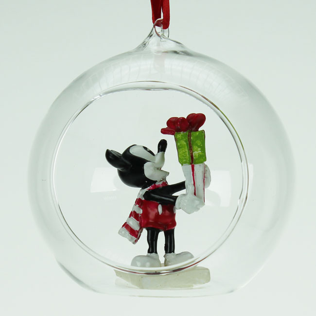 Glass mickey mouse christmas decoration ebay for Decoration noel mickey