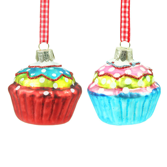 Gisels-Graham-Christmas-Set-of-two-glass-Cupcake-Tree-Decorations