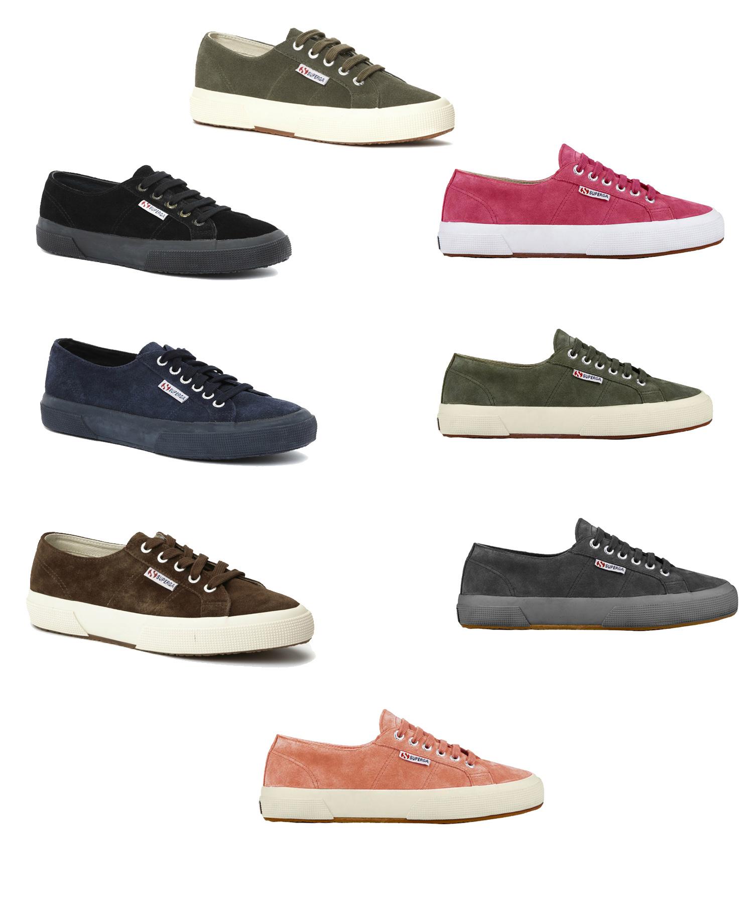 Superga Unisex 2750 Sueu Lace Up Suede Trainers Tennis Shoes ...