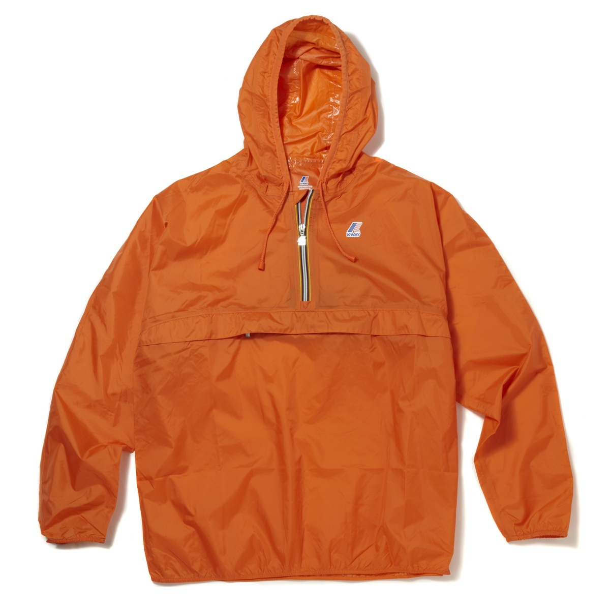 K-WAY Leon Classic Half Zip Kangaroo Pocket Waterproof Hooded ...