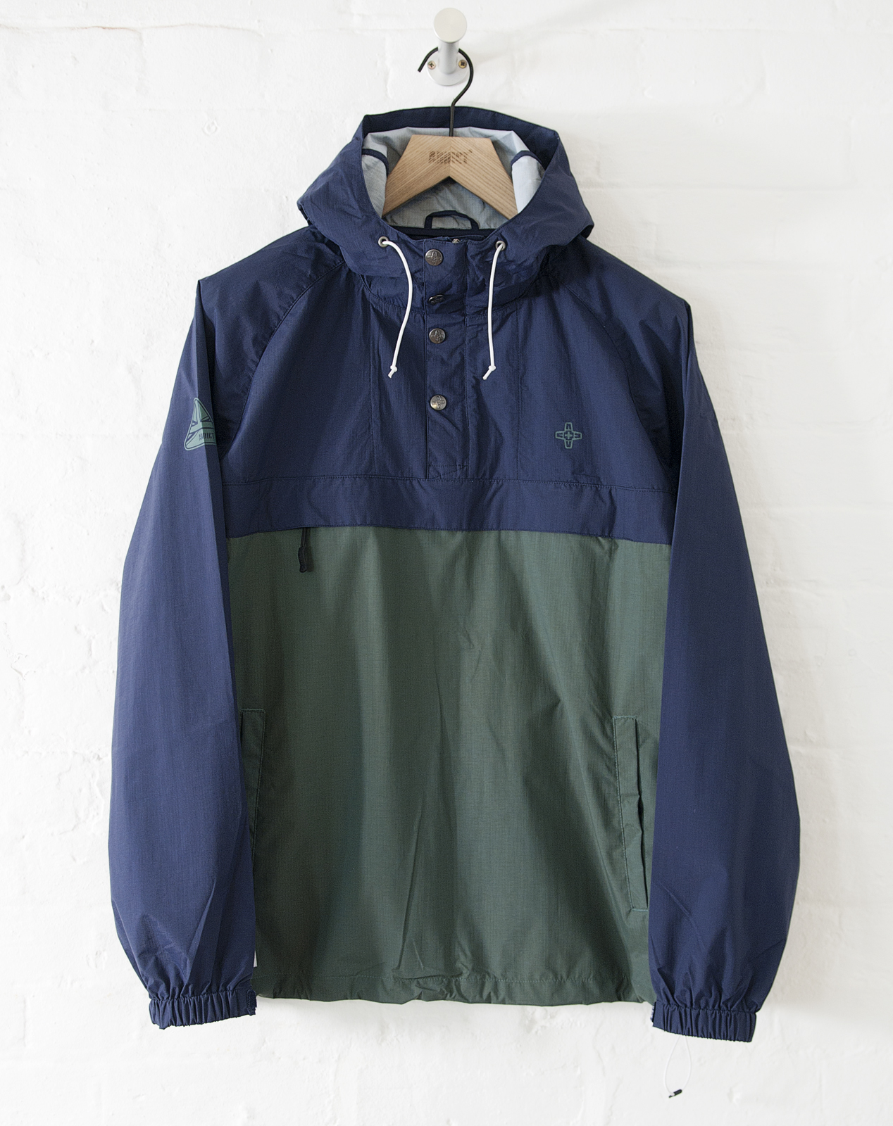 Addict Mens Pennine Smock Half Zip Water Resistant Adjustable Hood Jacket | EBay
