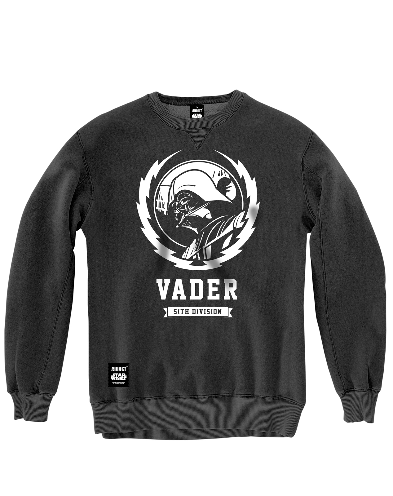Addict Star Wars Mens Vader Lightning Crew Neck 100 % Cotton ...