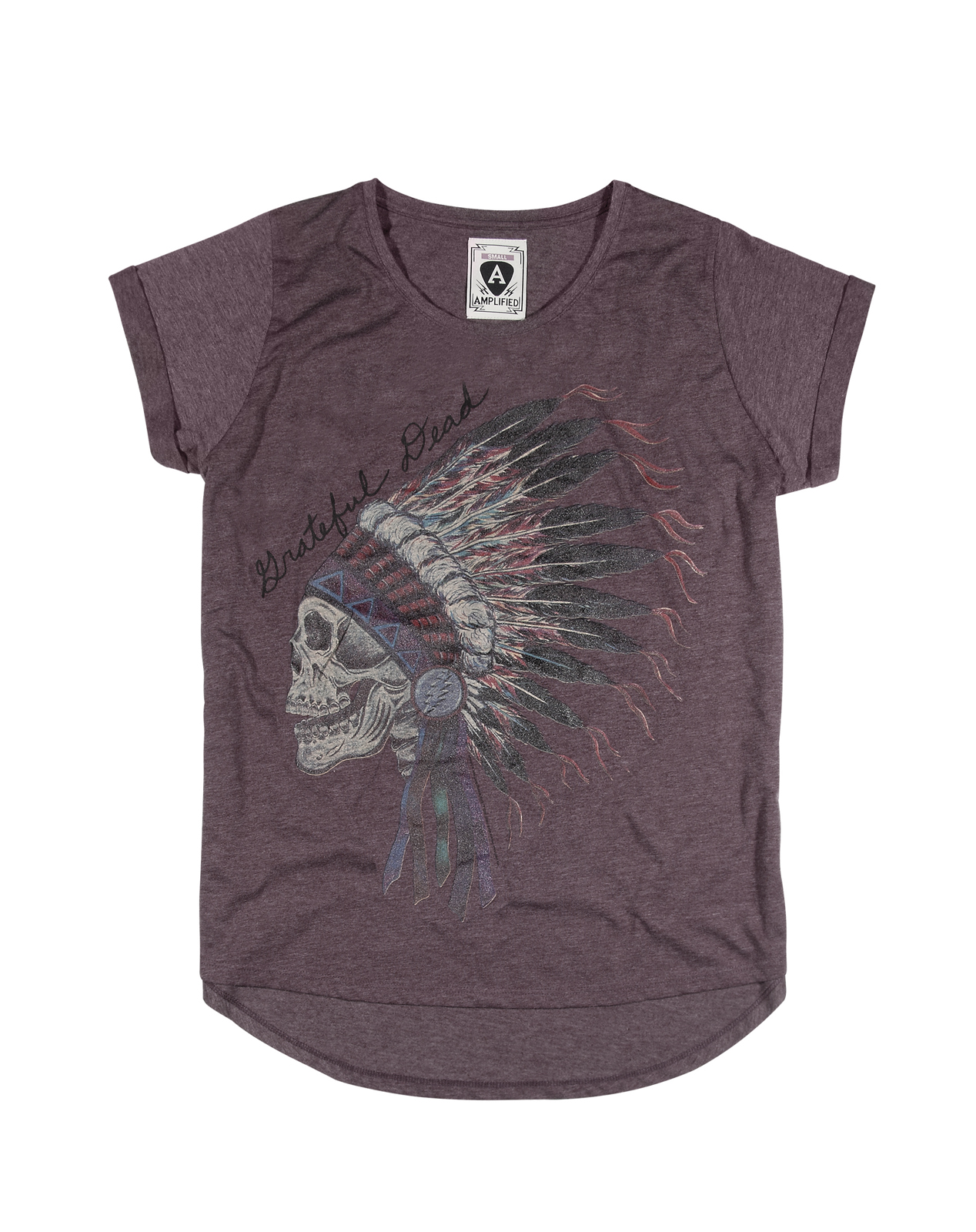 c672e625b Image is loading Amplified-Womens-Grateful-Dead-Indian-Ladies-Short-Sleeve-