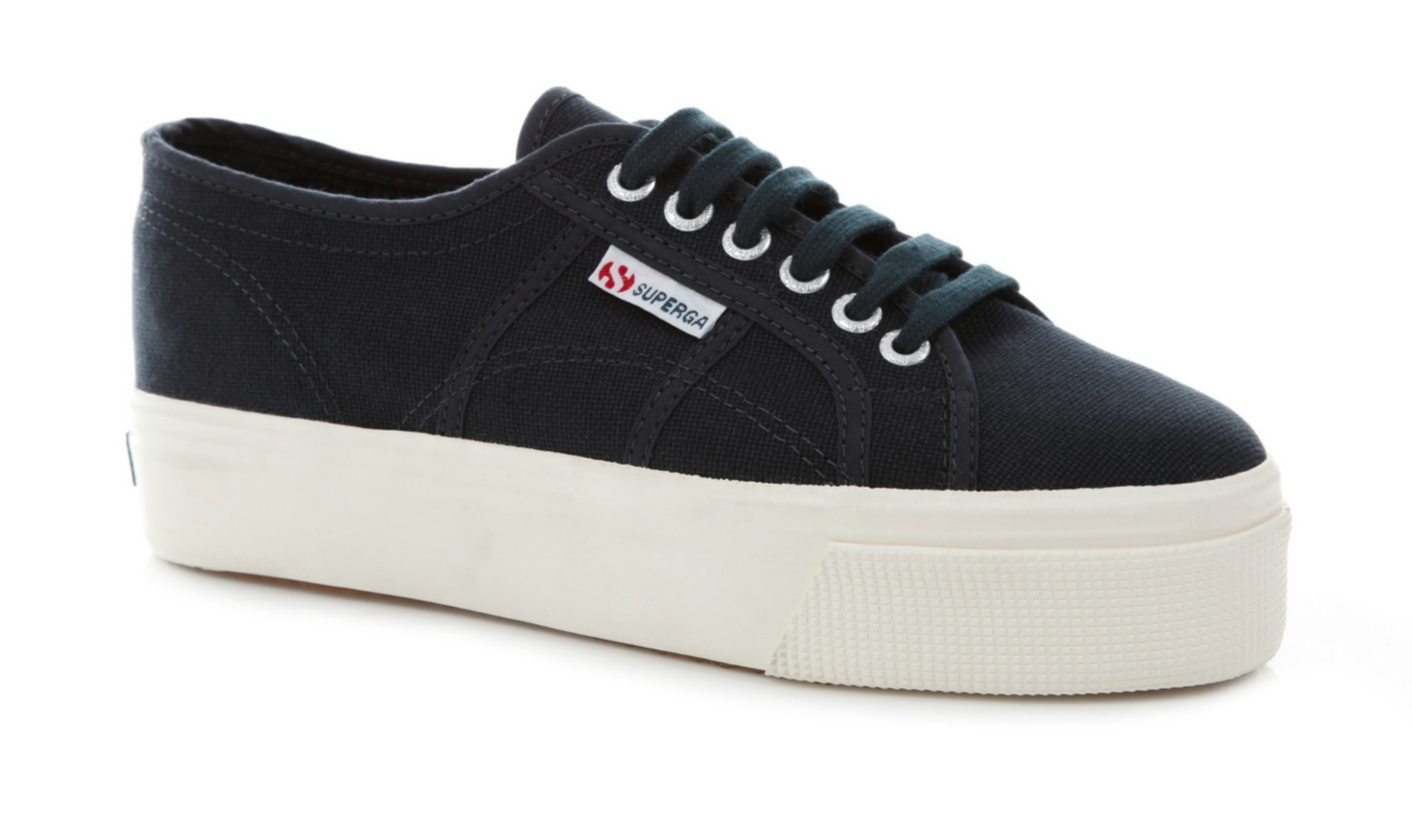 superga womens 2790 linea up down lace up canvas rubber sole shoes ebay. Black Bedroom Furniture Sets. Home Design Ideas