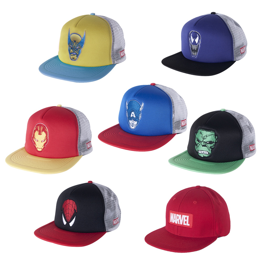 Marvel Superheros Trucker Cap Mens One Size Fits All Hat Brand New 45ae74d4b92