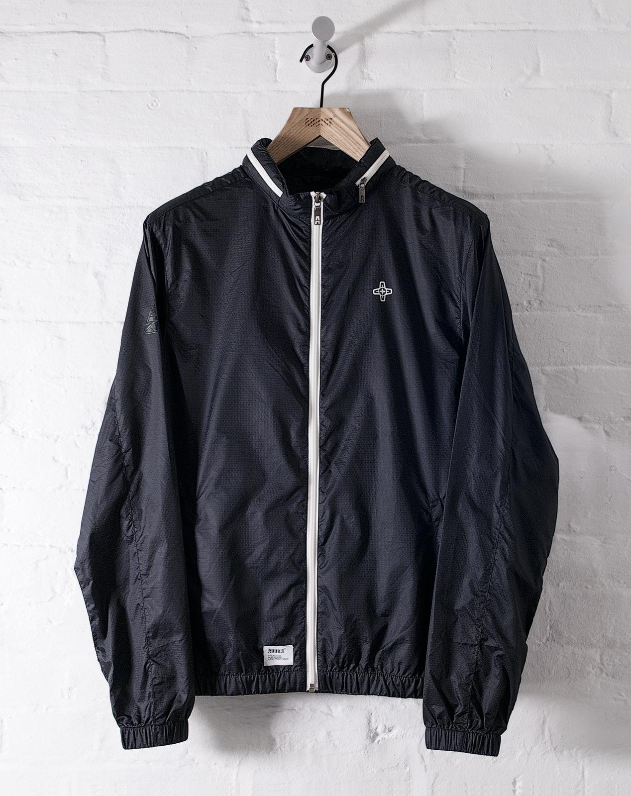 Addict Mens Awayday Zip Jacket Lightweight 100 Nylon