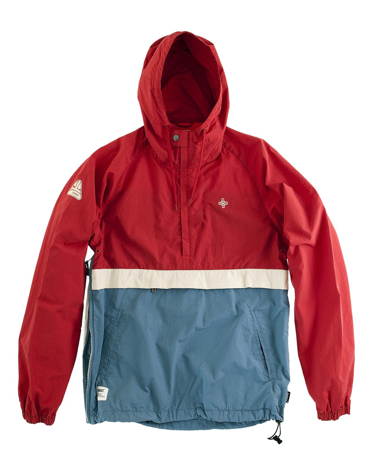Mens jacket half - Image Is Loading Addict Mens Eavis Smock Half Zip Hooded Jacket