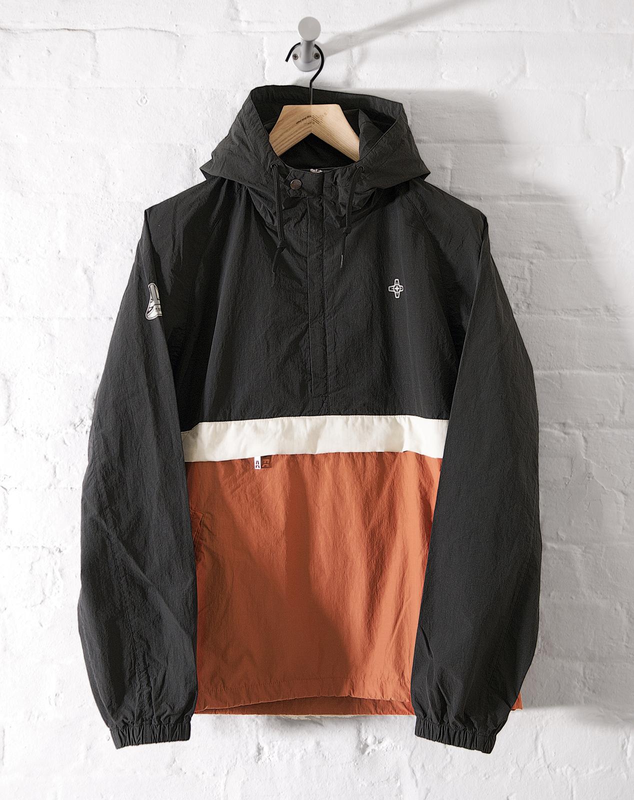 4727f5f8b Addict Mens Eavis Smock Half Zip Hooded Jacket Cotton/Nylon 80's ...