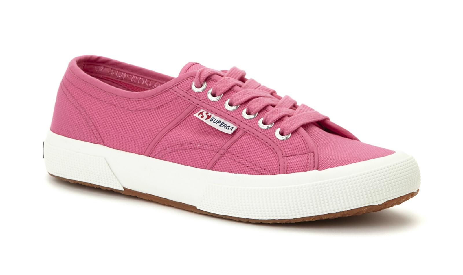 superga unisex 2750 cotu classic pink canvas trainers