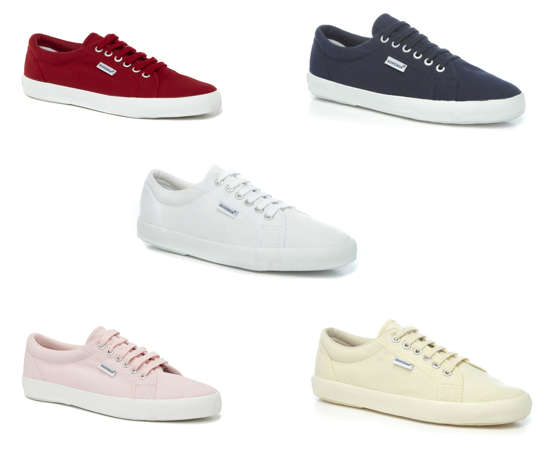 superga unisex 1705 cotu lace up canvas trainers tennis