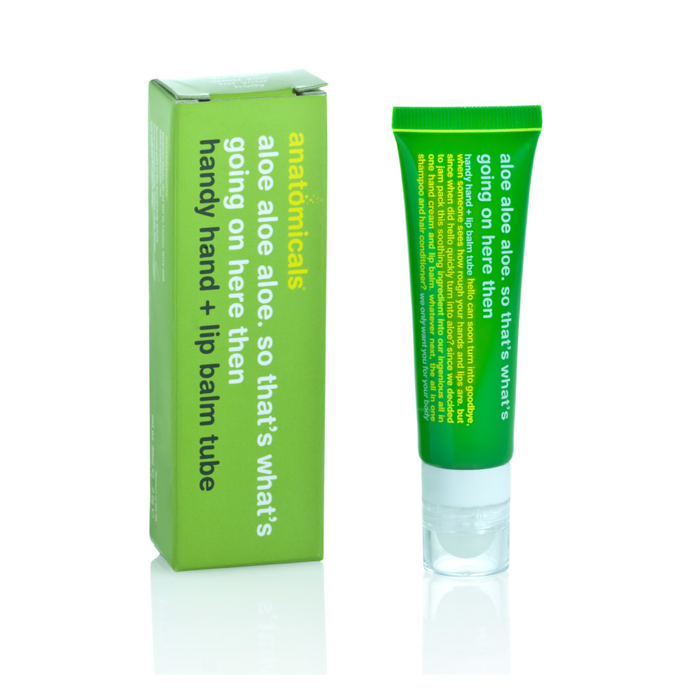 Anatomicals aloe handy hand and lip balm tube dry hands for 18th floor balcony chords