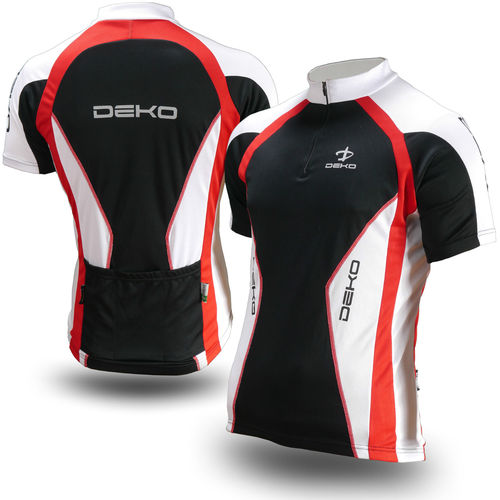 Deko Sport Air Cycling Short Sleeve Jersey-  Black 44in - DKHJ-AIR