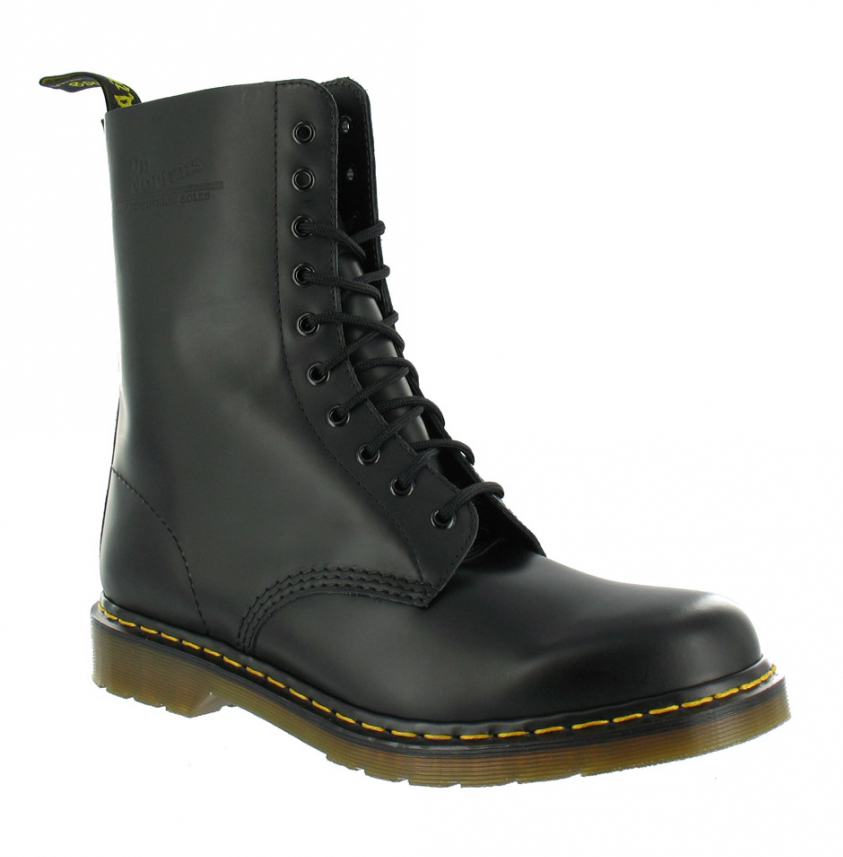 New Mens Dr Martens 10 Eye Black Leather 1490z Dress Casual Work Boots Size 6-12 | EBay