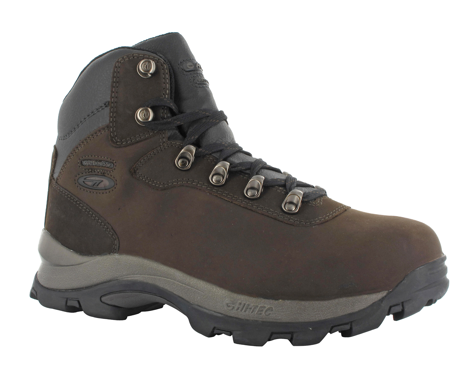 New-Mens-Hi-Tec-Brown-Waterproof-Nubuck-Leather-Altitude-Walking-Boots-Size-6-16