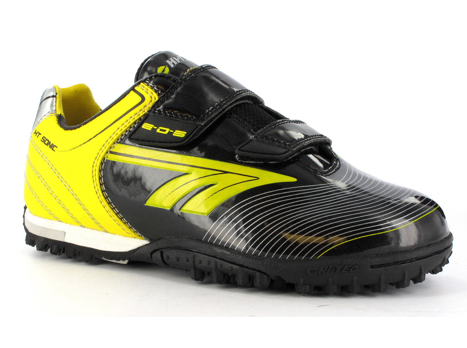New-Boys-Hi-Tec-EOS-Velcro-Astro-Turf-Football-Soccer-Velcro-Boots-Size-10-6-UK