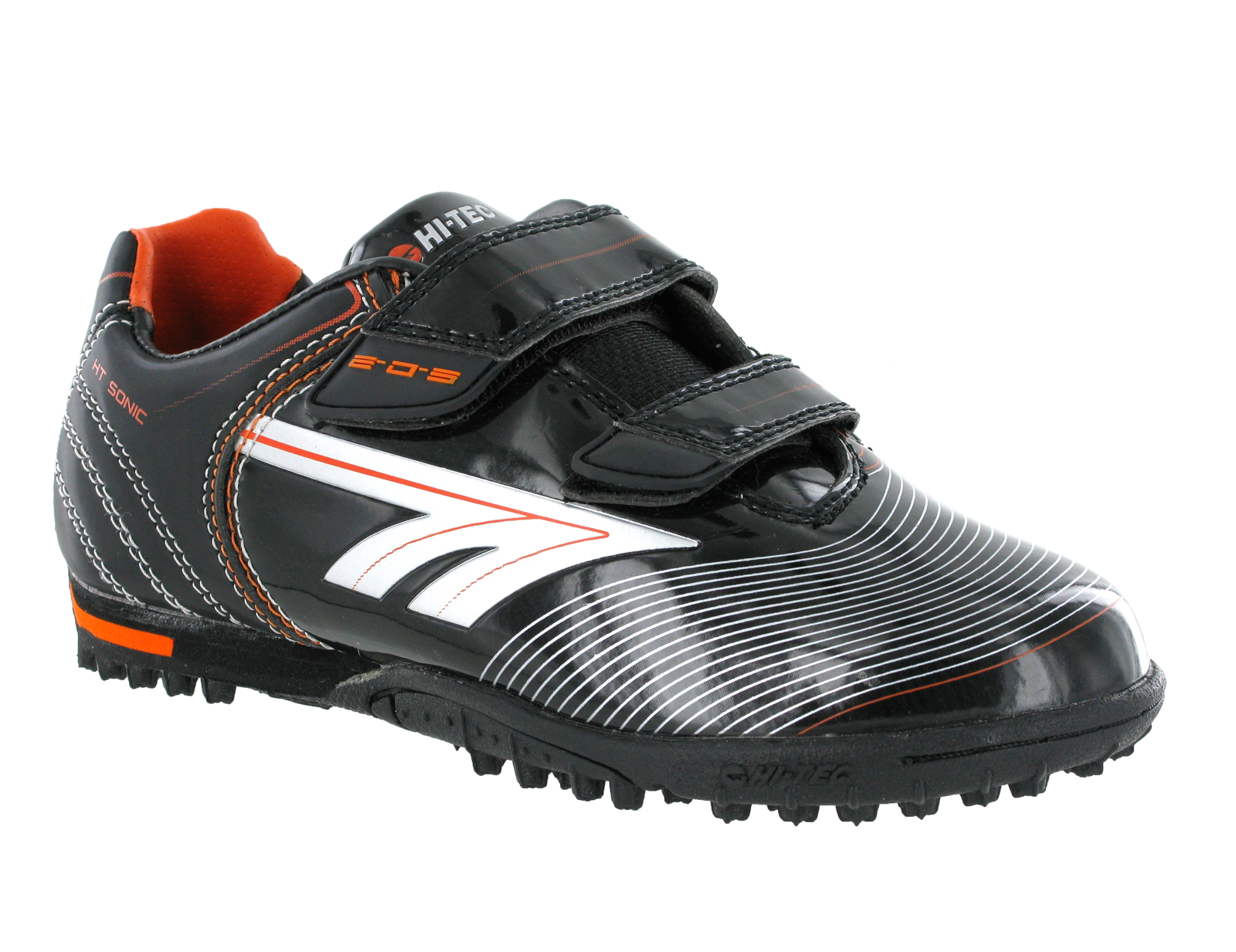 New-Boys-Hi-Tec-EOS-Velcro-Astro-Turf-Football-Soccer-Velcro-Boots-Size-10-6-UK