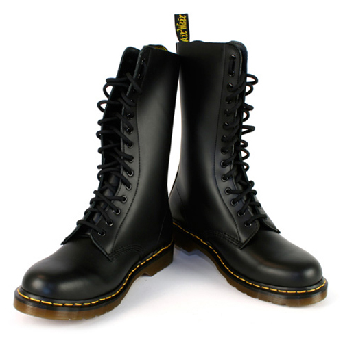 mens dr martens 1914 smooth black leather 14 eye ankle. Black Bedroom Furniture Sets. Home Design Ideas