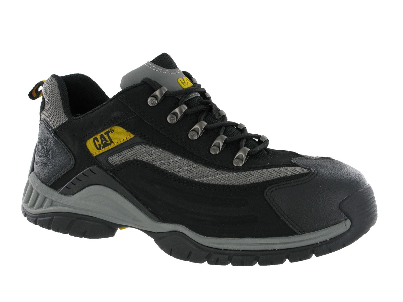 New Mens Caterpillar Moor Black Steel Toe Cap Safety Shoes ...