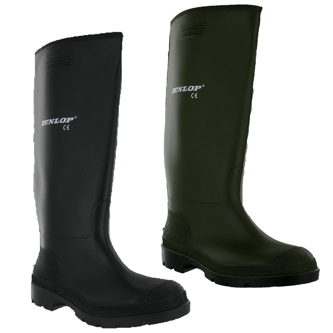 mens dunlop rubber wellington boots wellies 7 8 9 10 11 ebay