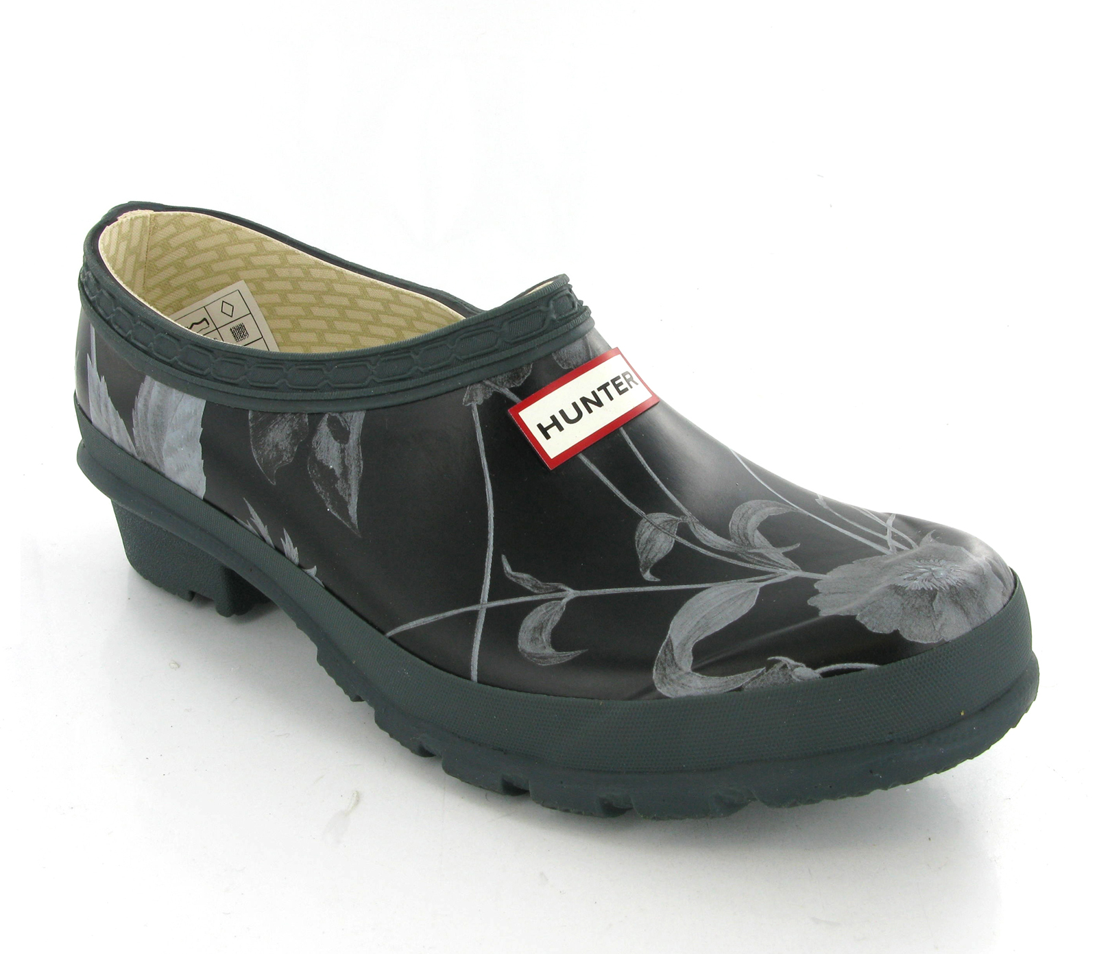 New Womens RHS Hunter Gardening Clogs Grey Black Wellington Shoes